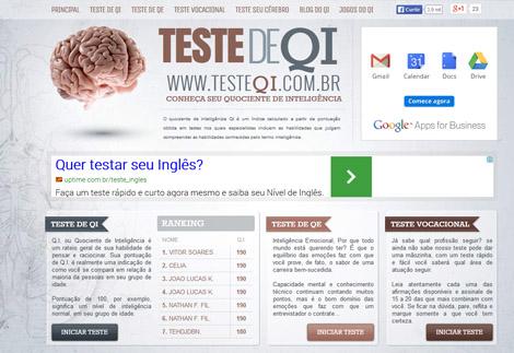 Teste de QI para Vestibulandos