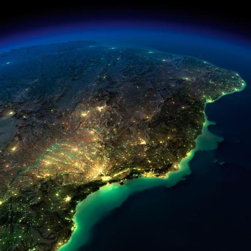 Brasil noite de lua cheia