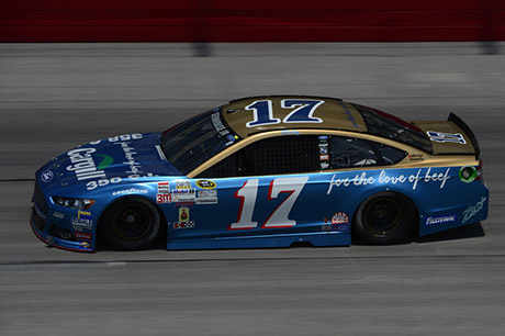 DARLINGTON, SC - SEPTEMBER 04: Ricky Stenhouse Jr., driver of the #17 Cargill Ford, practices for the NASCAR Sprint Cup Series Bojangles' Southern 500 at Darlington Raceway on September 4, 2015 in Darlington, South Carolina. (Photo by Robert Laberge/NASCAR via Getty Images)