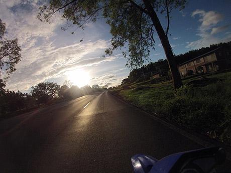 O Sol a nossa frente